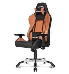 Кресло AKRacing PREMIUM Black/Brown, геймерское, экокожа, цвет черный/коричневый
