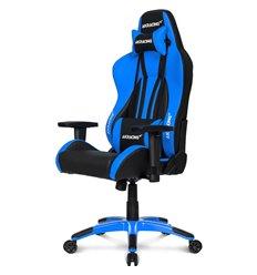 Кресло AKRacing PREMIUM Plus Black/Blue, геймерское, экокожа, цвет черный/синий