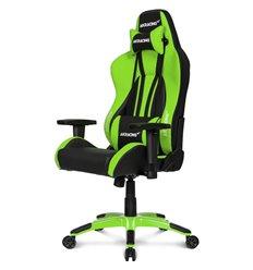 Кресло AKRacing PREMIUM Plus Black/Green, геймерское, экокожа, цвет черный/зеленый
