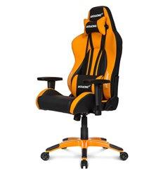 Кресло AKRacing PREMIUM Plus Black/Orange, геймерское, экокожа, цвет черный/оранжевый