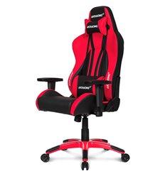 Кресло AKRacing PREMIUM Plus Black/Red, геймерское, экокожа, цвет черный/красный