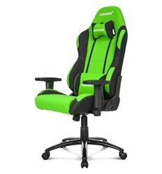 Кресло AKRacing PRIME Black/Green, геймерское, ткань, цвет черный/зеленый