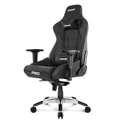 Кресло AKRacing PRO Black, геймерское, экокожа, цвет черный