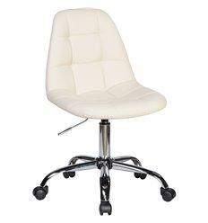 Кресло LM-9800 кремовый для персонала, хром, экокожа