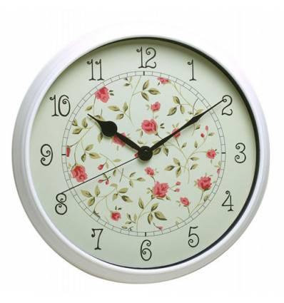 Часы Бюрократ WALLC-R23Р/WHITE настенные  аналоговые, цвет белые