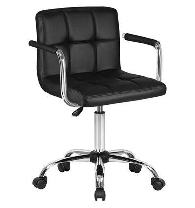Кресло LM-9400/black для оператора, экокожа, цвет черный