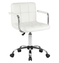 Кресло LM-9400/white для оператора, экокожа, цвет белый