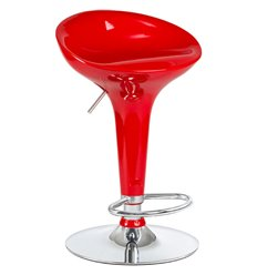 Стул барный LM-1004 Bomba красный, пластик