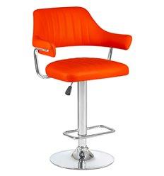 Стул барный LM-5019 оранжевый, искусственная кожа
