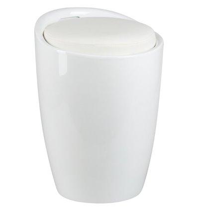 Табурет LM-1100 белый, пластик, с местом для хранения