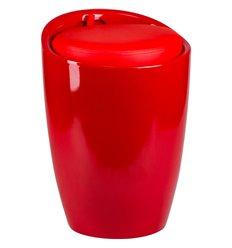 Табурет LM-1100 красный, пластик, с местом для хранения
