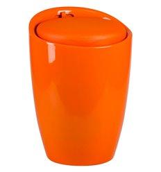 Табурет LM-1100 оранжевый, пластик, с местом для хранения