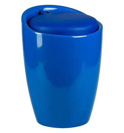 Табурет LM-1100 синий, пластик, с местом для хранения