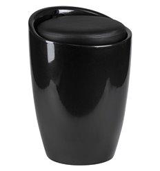 Табурет LM-1100 черный, пластик, с местом для хранения