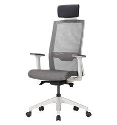 Кресло DUOREST DuoFlex QUANTUM Q700C_W (Q7) для руководителя, ортопедическое, сетка/ткань, цвет серый