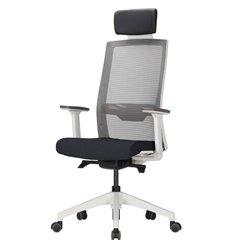 Кресло DUOREST DuoFlex QUANTUM Q700C_W (Q7) для руководителя, ортопедическое, сетка/ткань, цвет серый/черный