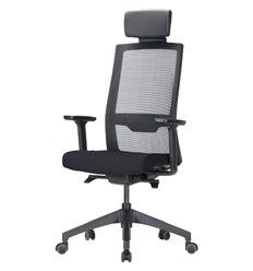 Кресло DUOREST DuoFlex QUANTUM Q700C (Q7) для руководителя, ортопедическое, сетка/ткань, цвет черный