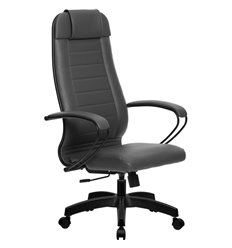 Кресло Метта Комплект 28 Pilot серый для руководителя, NewLeather
