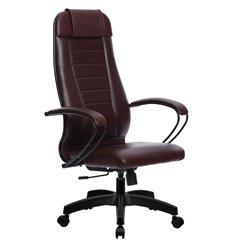 Кресло Метта Комплект 30 Pilot бордовый для руководителя, NewLeather