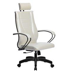 Кресло Метта Комплект 34 Pilot белый лебедь для руководителя, NewLeather