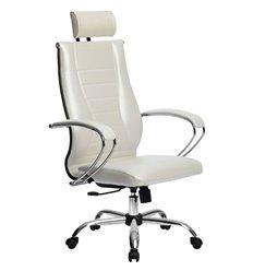 Кресло Метта Комплект 35 Pilot белый лебедь для руководителя, NewLeather