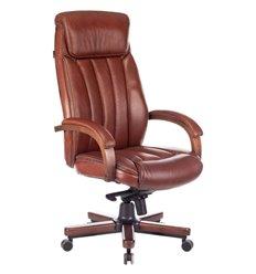 Кресло Бюрократ T-9922WALNUT/CHOK для руководителя, дерево, кожа, цвет коричневый