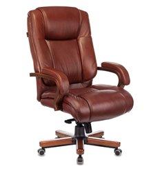 Кресло Бюрократ T-9925WALNUT/CHOK для руководителя, дерево, кожа, цвет коричневый