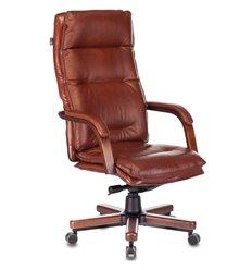 Кресло Бюрократ T-9927WALNUT/CHOK для руководителя, дерево, кожа, цвет коричневый