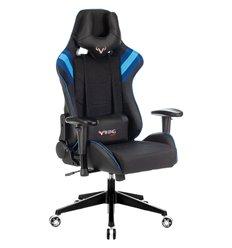 Кресло Бюрократ VIKING 4 AERO BLUE игровое, экокожа/ткань, цвет черный/синий