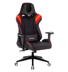 Кресло Бюрократ VIKING 4 AERO RED игровое, экокожа/ткань, цвет черный/красный