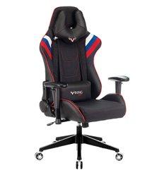 Кресло Бюрократ VIKING 4 AERO RUS игровое, экокожа/ткань, цвет черный/белый/синий/красный