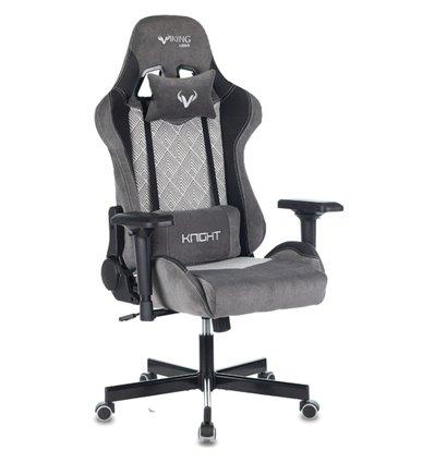 Кресло Бюрократ VIKING 7 KNIGHT GR FABRIC игровое, ткань/экокожа, цвет серый