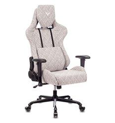 Кресло Бюрократ VIKING LOFT R игровое, ткань, цвет серый ромбик