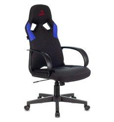 Кресло Бюрократ ZOMBIE RUNNER BLUE игровое, ткань/экокожа, цвет черный/синий