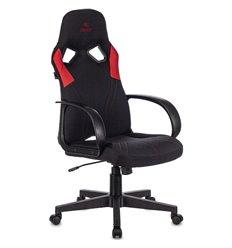 Кресло Бюрократ ZOMBIE RUNNER RED игровое, ткань/экокожа, цвет черный/красный