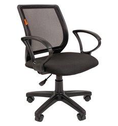 Кресло CHAIRMAN 699 BLACK для оператора, сетка/ткань, цвет черный