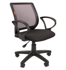 Кресло CHAIRMAN 699 GREY для оператора, сетка/ткань, цвет серый/черный