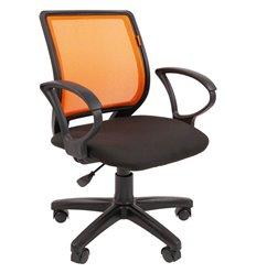 Кресло CHAIRMAN 699 ORANGE для оператора, сетка/ткань, цвет оранжевый/черный
