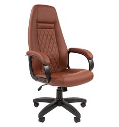 Кресло CHAIRMAN 950 LT BROWN для руководителя, экокожа, цвет коричневый