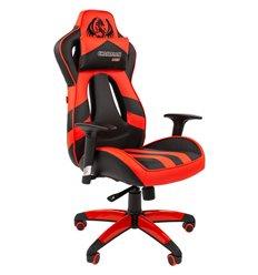 Кресло CHAIRMAN GAME 25 RED геймерское, экокожа, цвет красный/черный