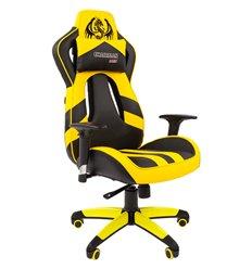 Кресло CHAIRMAN GAME 25 YELLOW геймерское, экокожа, цвет желтый/черный
