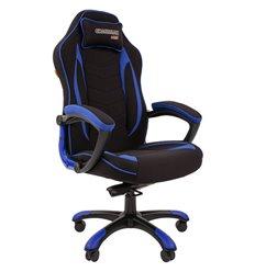 Кресло CHAIRMAN GAME 28 Blue геймерское, ткань, цвет черный/синий