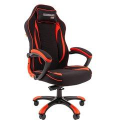 Кресло CHAIRMAN GAME 28 Red геймерское, ткань, цвет черный/красный