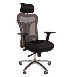 Кресло CHAIRMAN 769/TW-11 для руководителя, сетка/ткань, цвет серый/черный