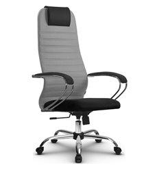 Кресло Метта SU-BK-10 светло-серый для руководителя, ткань