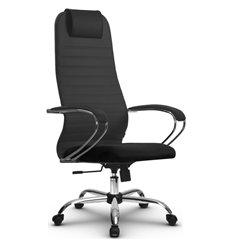 Кресло Метта SU-BK-10 темно-серый для руководителя, ткань