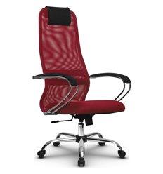 Кресло Метта SU-BK-8 красный для руководителя, сетка/ткань