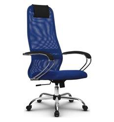 Кресло Метта SU-BK-8 синий для руководителя, сетка/ткань