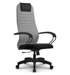 Кресло Метта SU-BP-10 светло-серый для руководителя, ткань