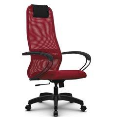 Кресло Метта SU-BP-8 красный для руководителя, сетка/ткань